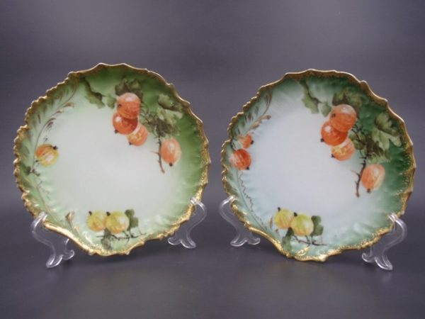 Декоративные тарелки Кузнецова Рижской фабрики 1889-1910 гг.