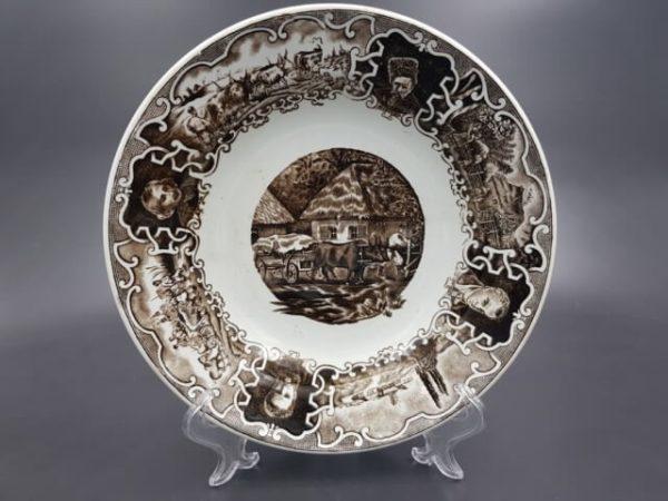 Редкая коллекционная тарелка с клеймом Т-ва Кузнецова до 1917