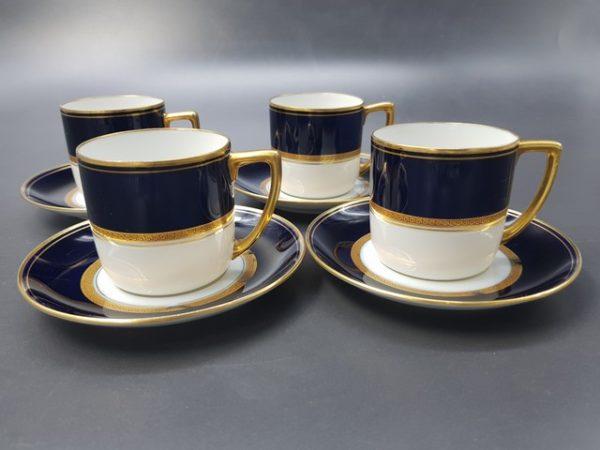 Редкие кофейные пары с двойной маркой Соmte Harrach Moscau / Граф Гаррах Москва Российская империя до 1917