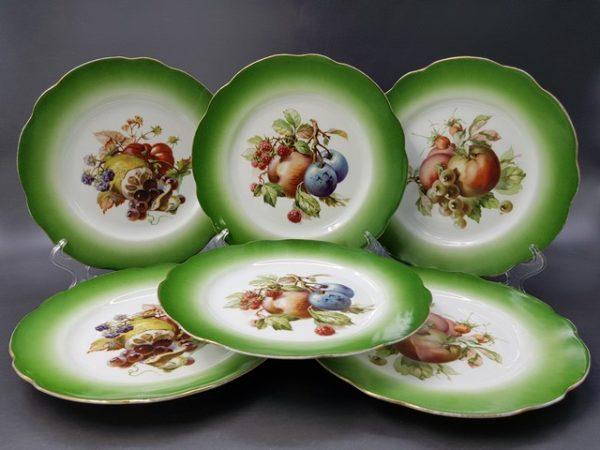 Тарелочки с маркой Кузнецова Дмитровской фабрики до 1917 года