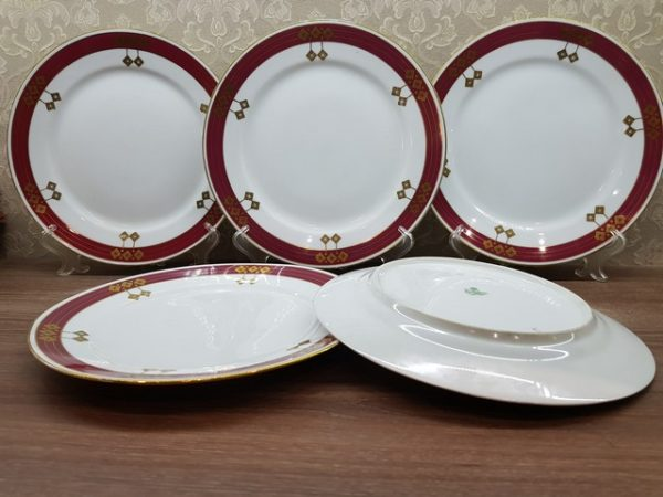 Набор тарелок М.С. Кузнецов с маркой до 1917 года
