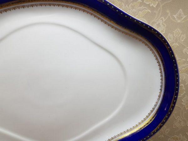 Кобальтовое блюдо с маркой Кузнецова до 1917