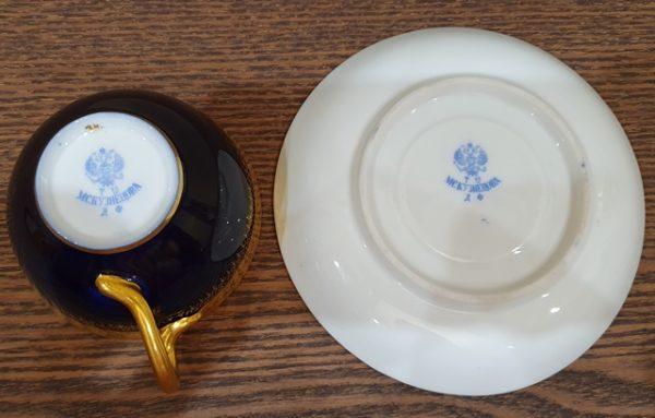 Чайная пара фабрики Кузнецова до 1917 года