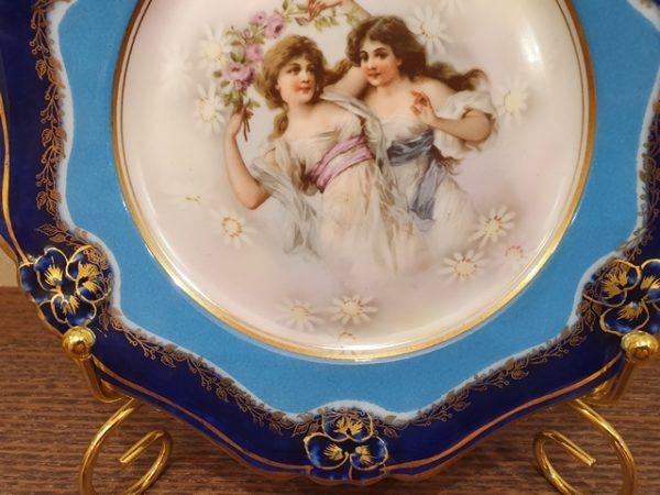 Парные тарелочки с маркой М.С. Кузнецова до 1917 года