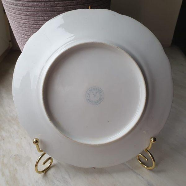 Тарелка cтаринная, антикварная, дореволюционная, пpоизводcтво «A МАRCЕROU St.PETERSВОURG»