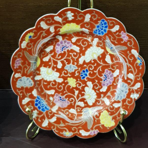 Фарфоровая тарелка антикварная Япония 1880г