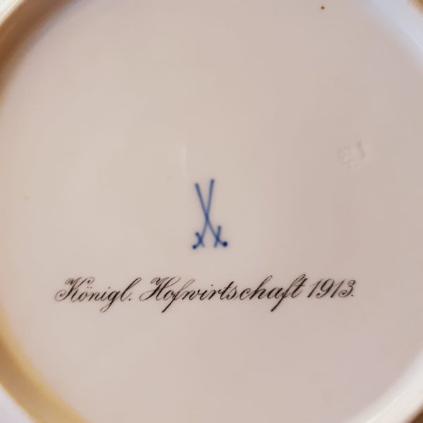 Антикварная тарелка мануфактура Мейсен/Meissen