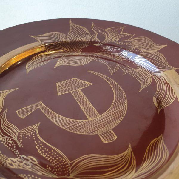 Агитационная тарелка, Агитация, агитка, агитационный фарфор Tallinn ARS