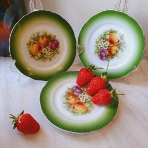 Тарелочки десертные с маркой М.С.Кузнецов до 1917