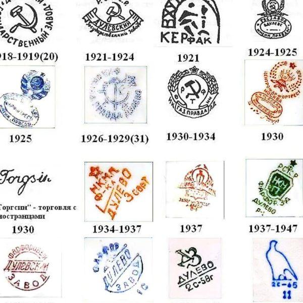 Тарелка декоративная ранние советы Дулевской фабрики 1926-29 г